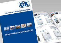 Hier ist ein Teilausschnitt des neuen Gustav Klein Firmenprofils abgebildet.