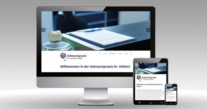Internetauftritt Dr. Kübler