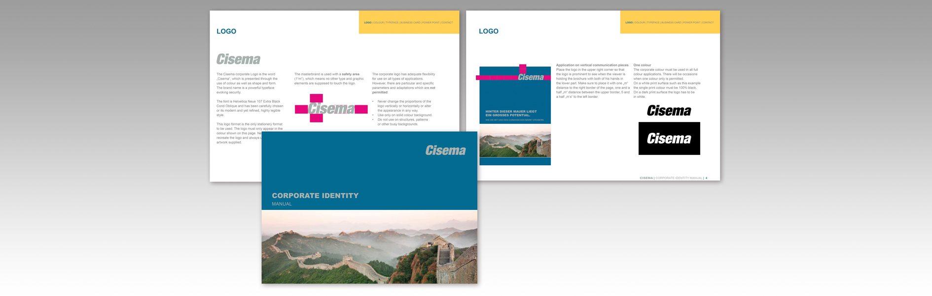 Eine Auswahl des 11-seitigen Corporate Design Manual.