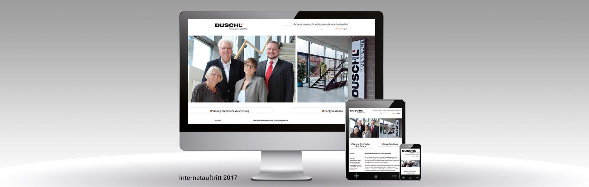 Hier ist die neue Website von Duschl zu sehen.