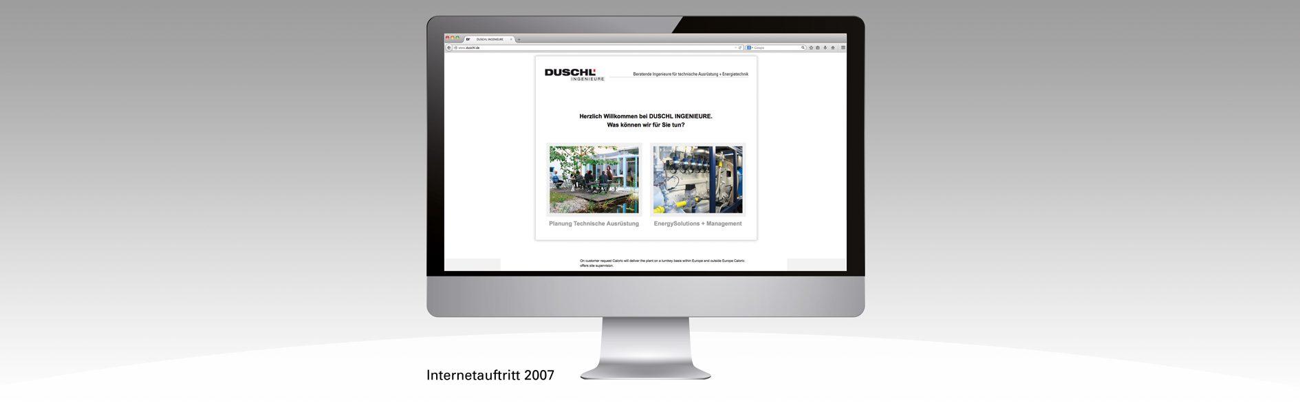Hier ist der Duschl Internetauftritt von 2007 zu sehen.