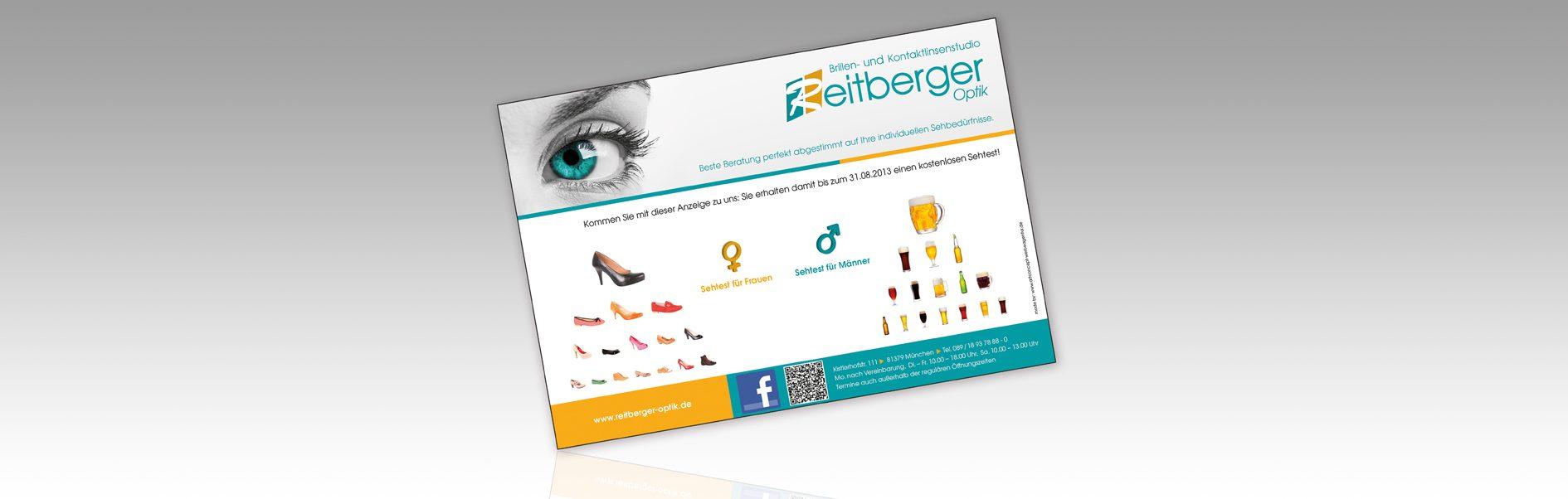 Hier ist die Imageanzeige von Reitberger Optik dargestellt.