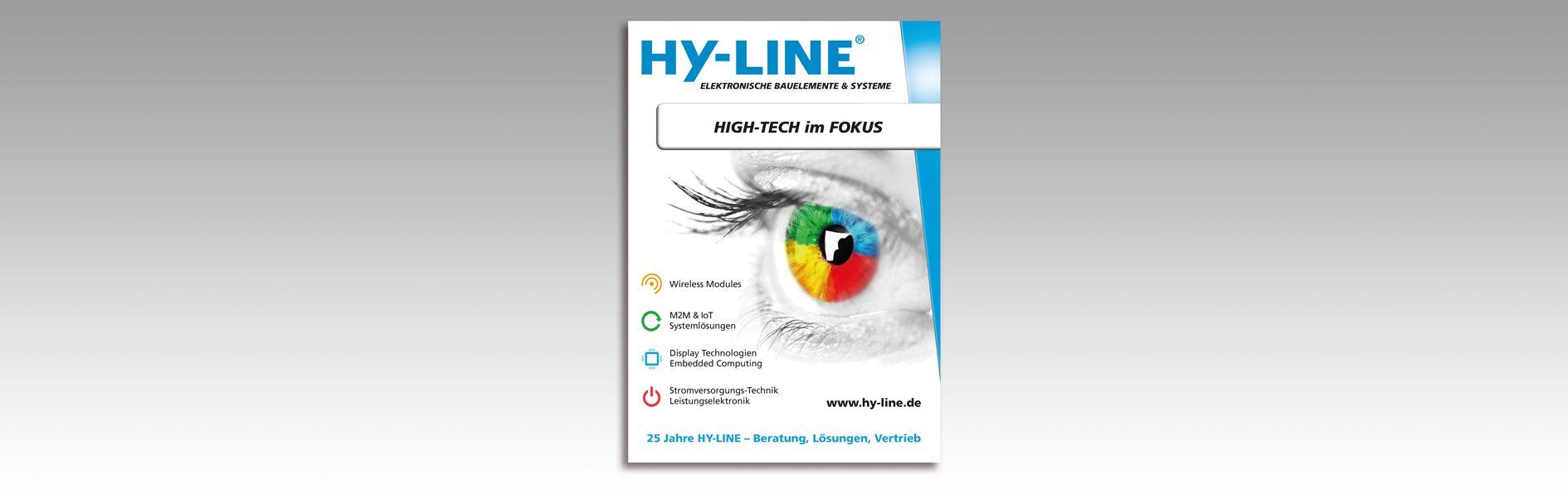 Hier ist die neue HY-LINE Group Anzeige abgebildet.