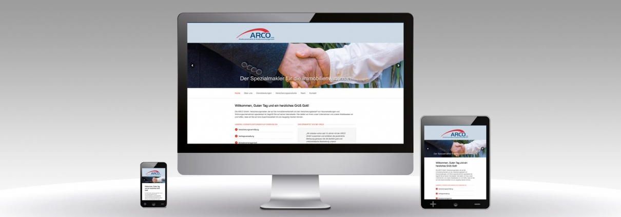 Unternehmenswebseite ARCO