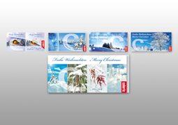 Hier sind die Weihnachtskarten von Caloric abgebildet.