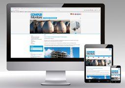 Hier ist der Internetauftritt unseres Kunden Compur Monitros als Desktop- sowie Mobilversion.
