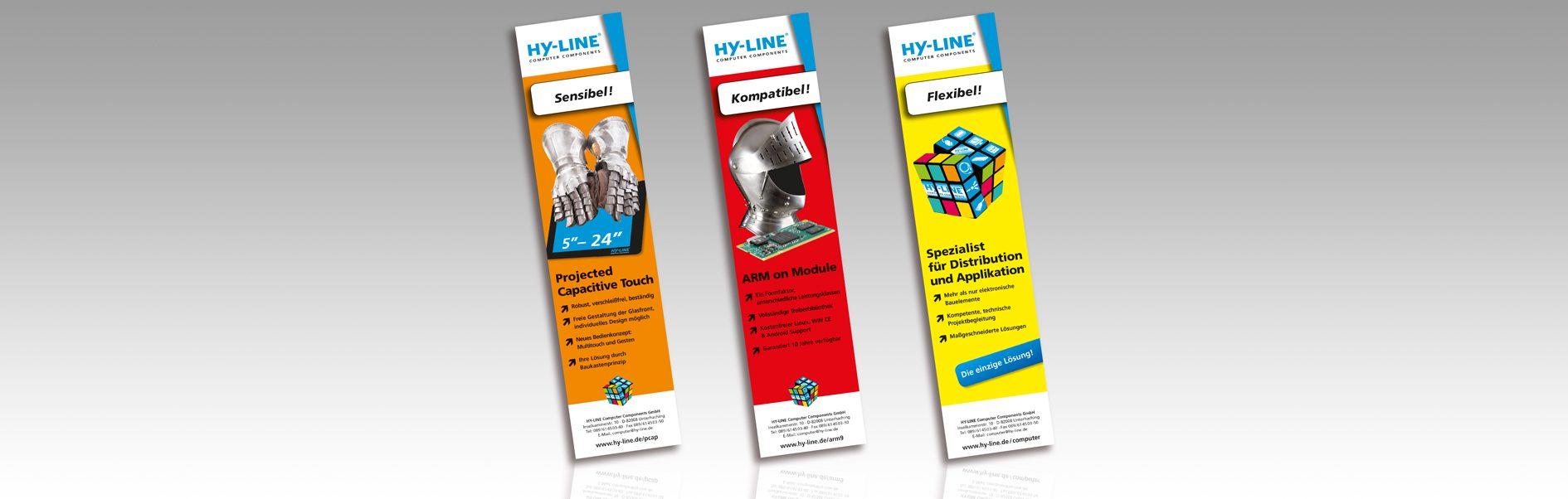 Hier sind die 3 verschiedenen Anzeigen der Anzeigenkampagne von 2013 abgebildet.