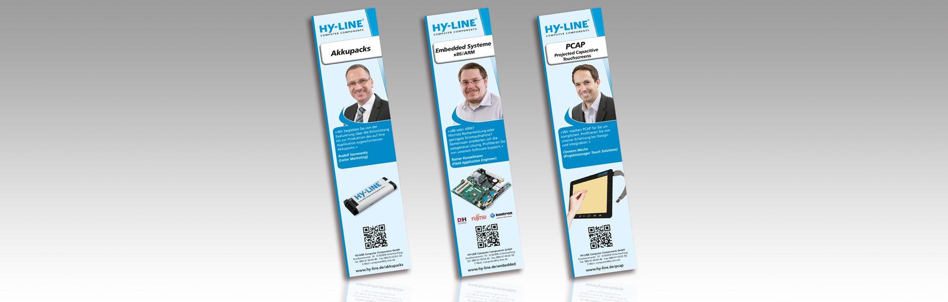 Hier sind die 3 verschiedenen Anzeigen der Anzeigenkampagne von 2014 abgebildet.