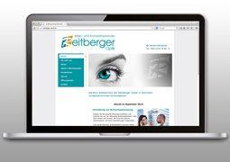 Hier ist der Reitberger Optik Internetauftritt abgebildet.
