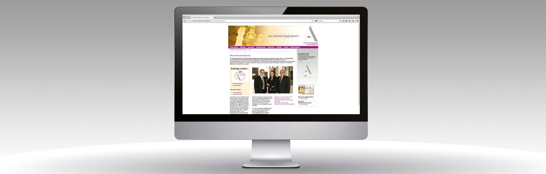 Private Akademie – Website – artconcept