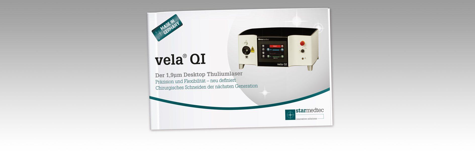 Hier ist das Cover der Proschüre Vela QI.