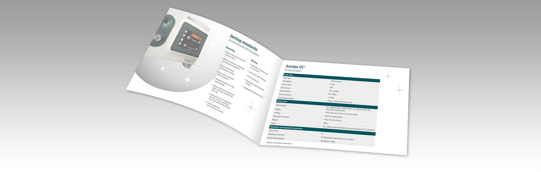 Hier wird die Starmedtec Produktbroschüre dargestellt.