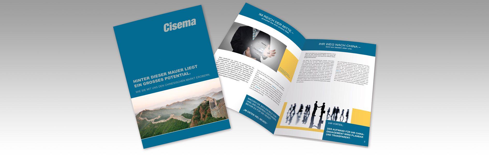 Es wird die Cisema Imagemappe gezeigt.