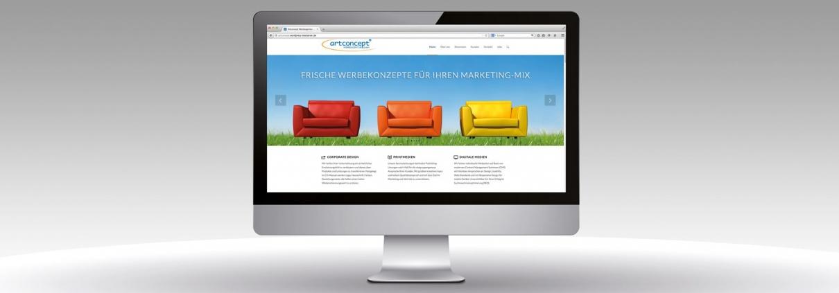 Hier wird der neue Internetauftritt der artconcept Werbeagentur gezeigt.