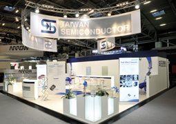 Das ist der Taiwan Semiconductor Messestand auf der electronica 2014.