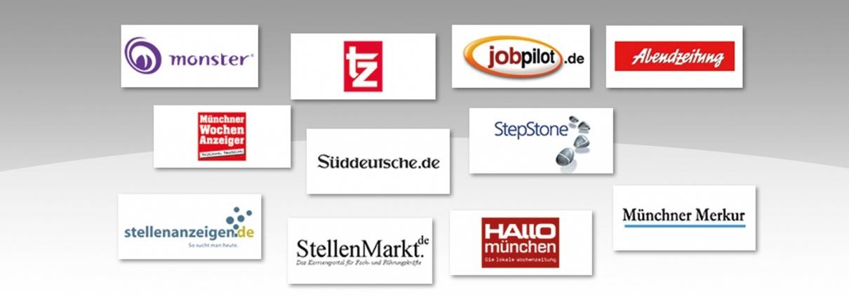 Hier sind einige der Verlage abgebildet, bei denen wir Personalanzeigen schalten.