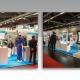 Zwei Fotos des HY-LINE Messestands auf der Embedded World.
