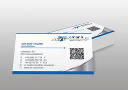 Hier sind die Visitenkarten von AIV Amann abgebildet.