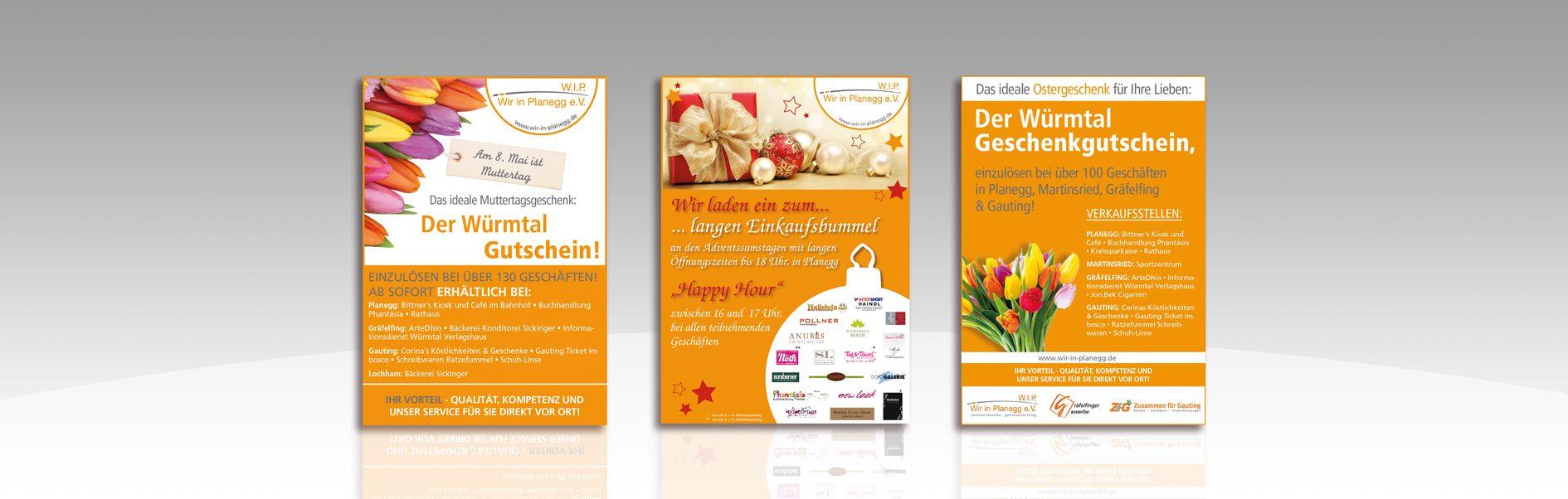 Hier sind die Anzeigen von Wir in Planegg abgebildet.