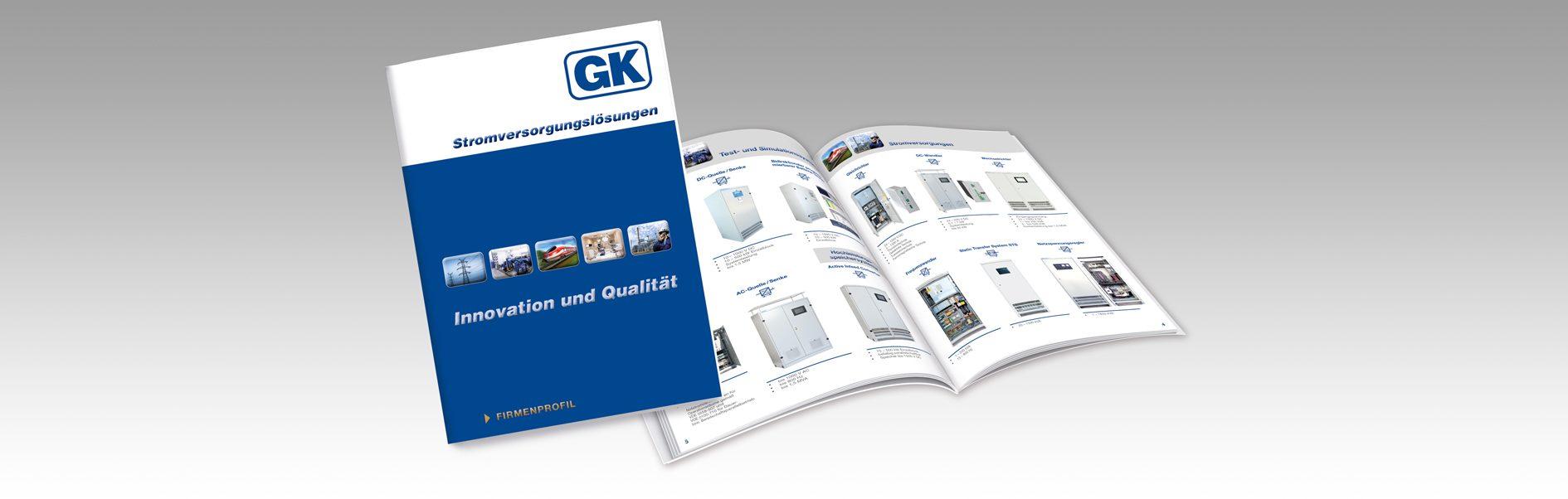Hier ist das neue Firmenprofil unseres Kunden Gustav Klein abgebildet.