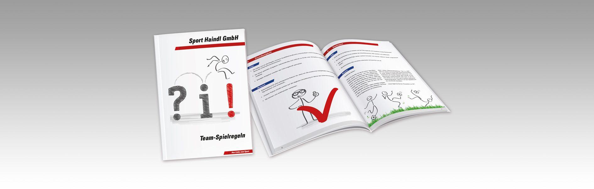 Hier ist das Intersport Haindl Spielregeln Handbuch abgebildet.