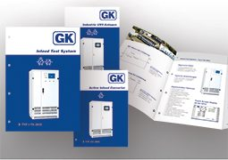 Übersichtsbild der Gustav Klein Produktbroschüren abgebildet.