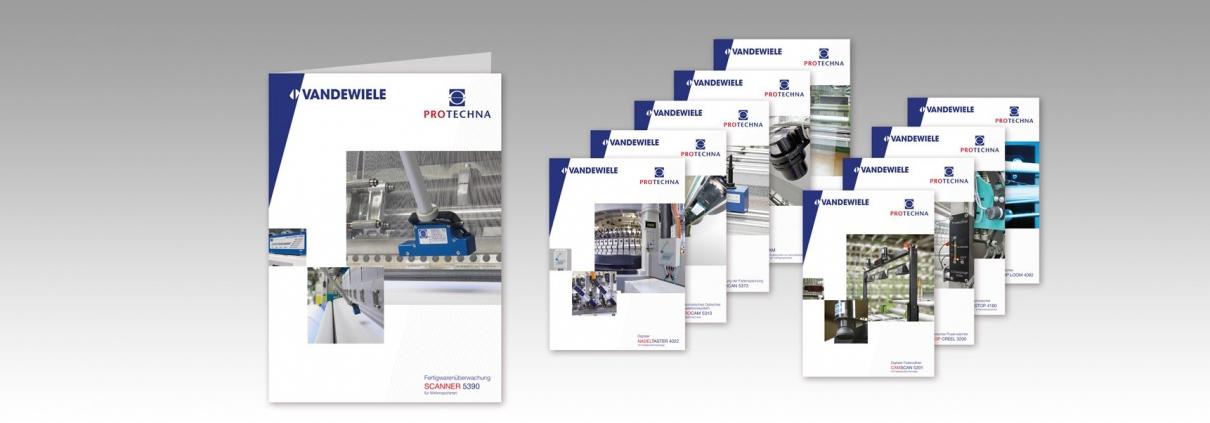 Hier sind die 10 Titel der Protechna Broschüren abgebildet.