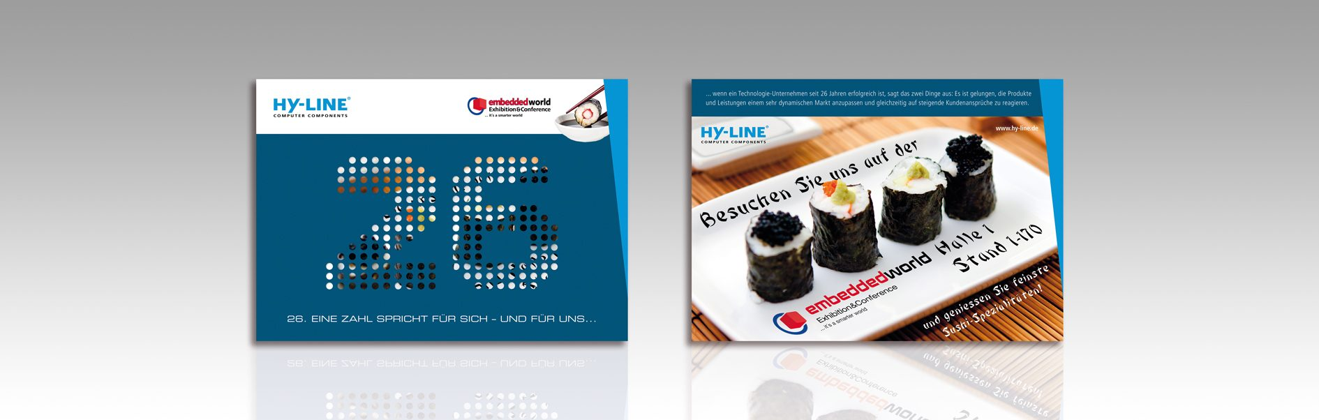 Hier ist die Anzeigenkampagne 2016 von HY-LINE abgebildet.