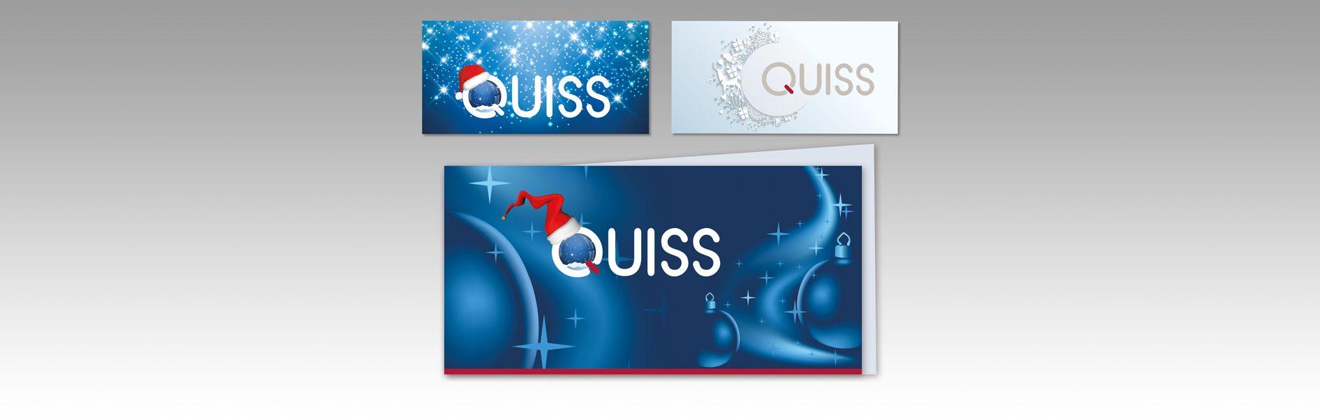 Hier sind die Weihnachtskarten von Quiss abgebildet.