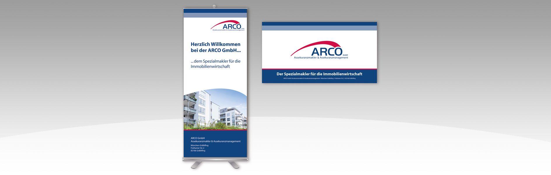 Hier ist das ARCO Rollup un der Banner abgebildet.