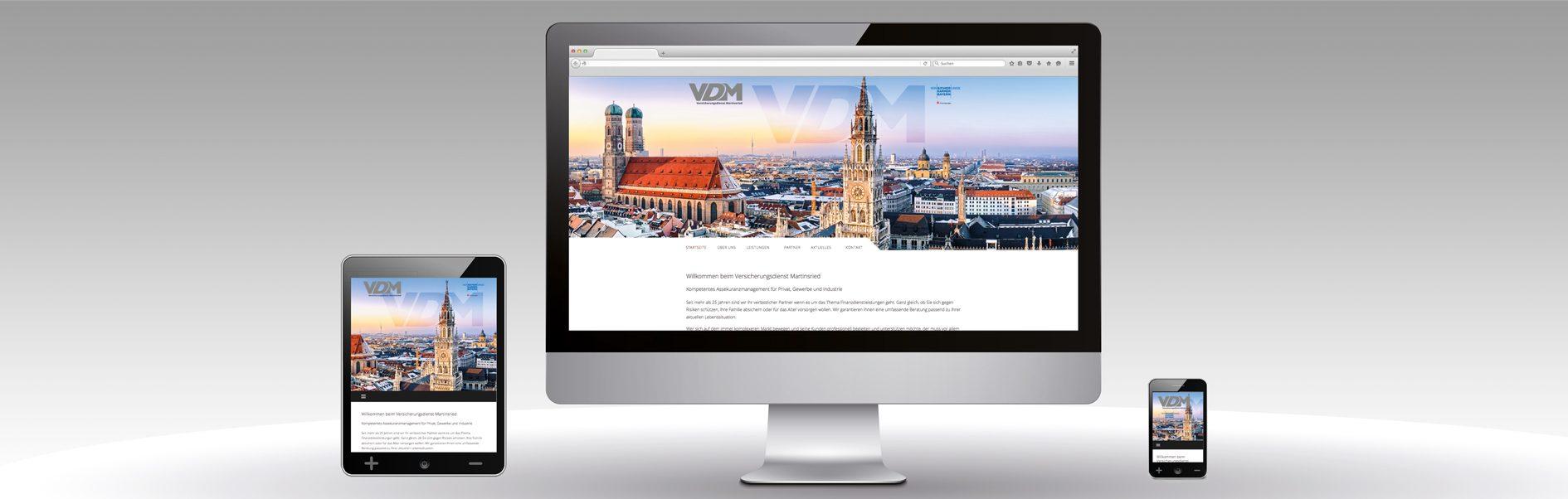 Hier ist der neue Internetaufrtitt von VDM abgebildet.