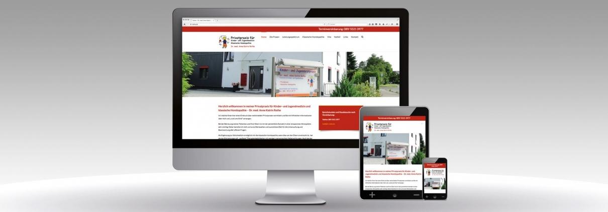 Website im Repsonsive Design Dr. Rothe Internetauftritt