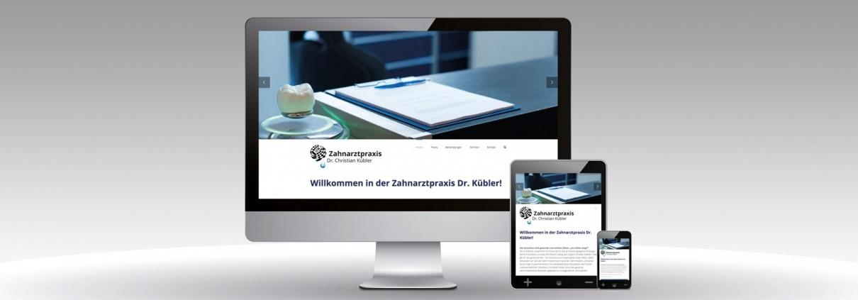 CMS WordPress Website Dr. Kübler