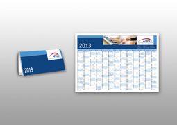 Hier sind Wand- und Tischkalender von Arco abgebildet.