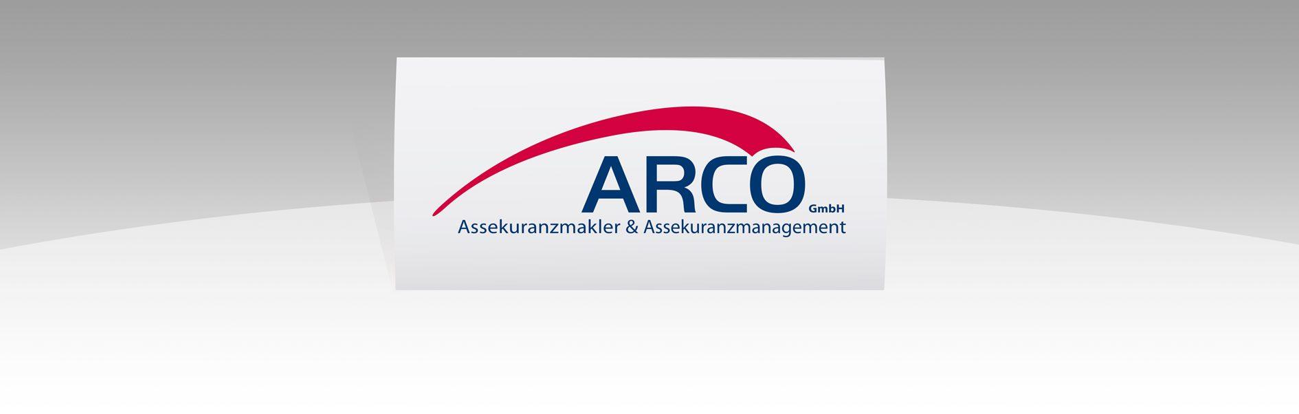 Hier ist das Logo von Arco zu sehen.