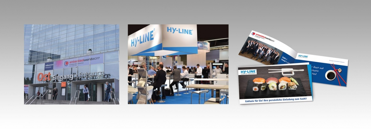 Messestandgestaltung HY-LINE embedded world 2017
