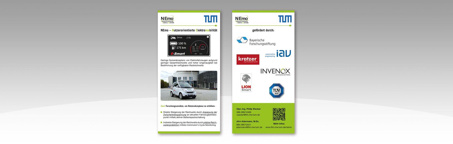 Hier ist der NEmo Flyer der TU München zu sehen.