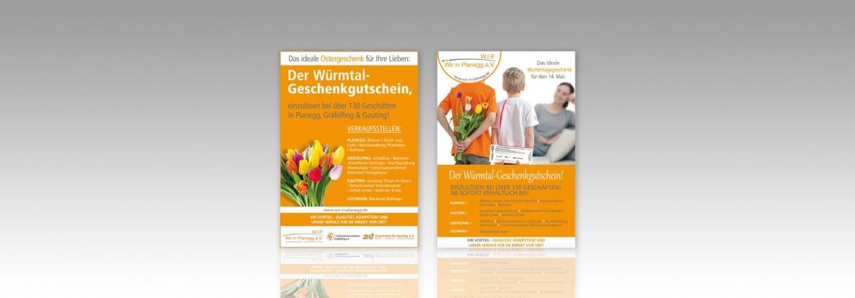 Hier ist die WIP Oster- und Muttertagsanzeige abgebildet.