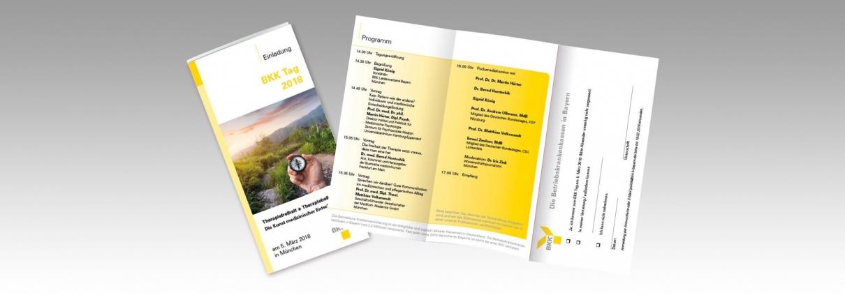 Hier sind die Flyer von BKK abgebildet.