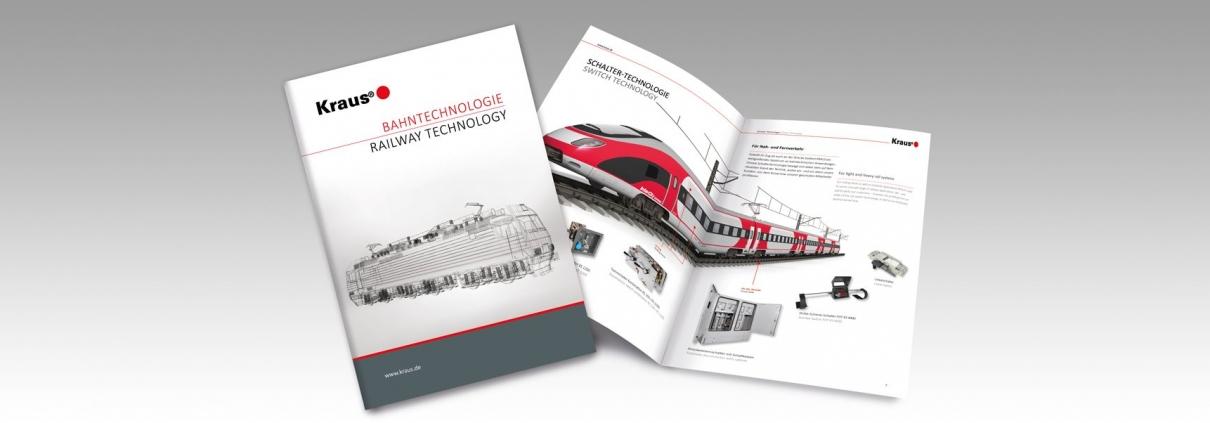 Katalogdesign Kraus Bahntechnologie