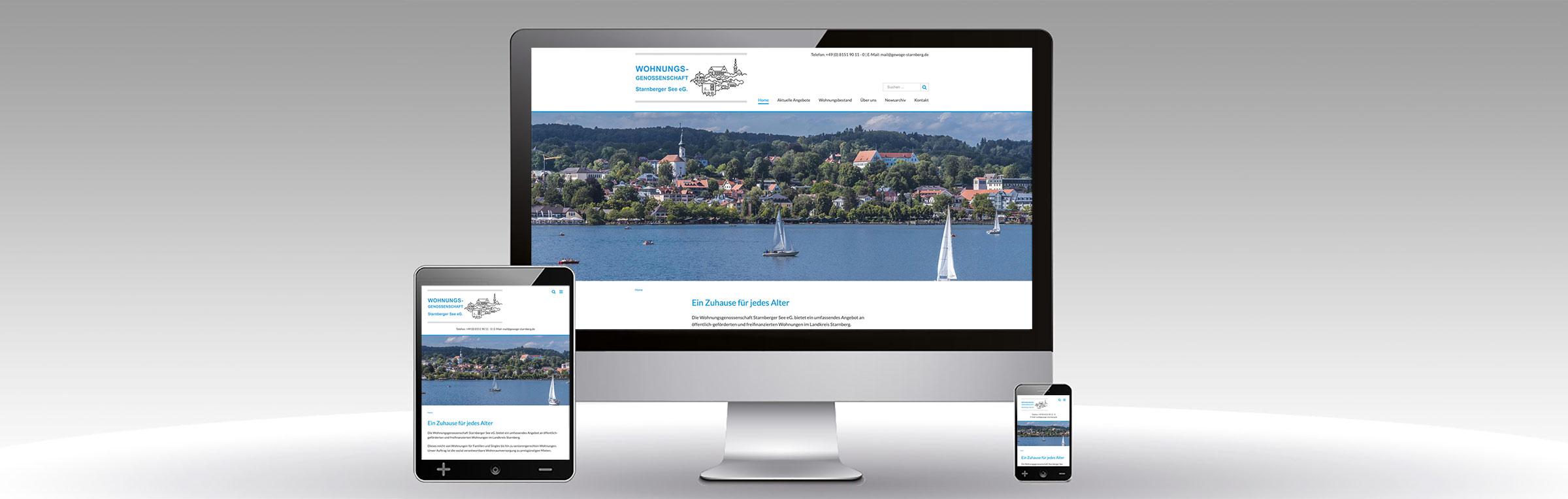 Professionelle Website Wohnungsgenossenschaft