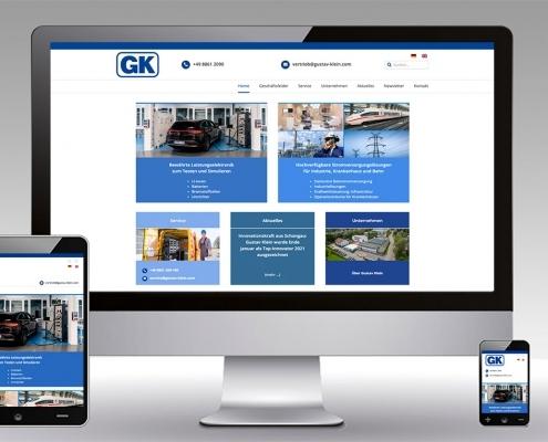 Website Relaunch Gustav Klein