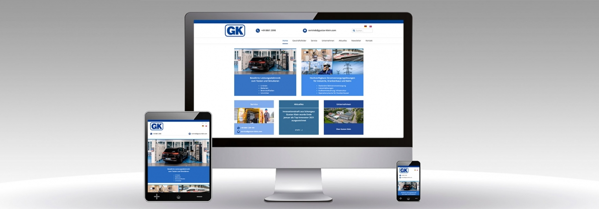 Website Relaunch Gustav Klein